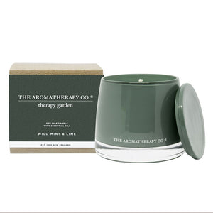 The Aromatherapy Co Therapy Garden Wild Mint and Lime Candle at More Than Just A Gift
