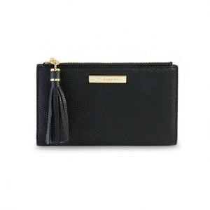 Katie Loxton Black  Tassel Fold Out Purse | More Than Just A Gift