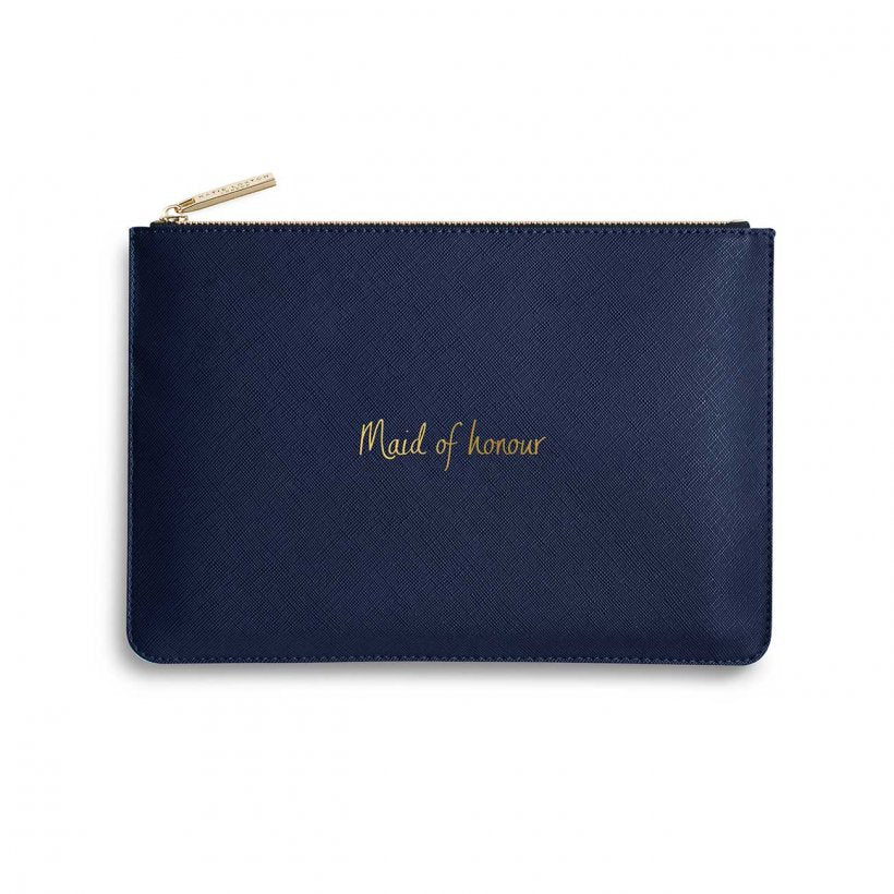 Katie Loxton Maid Of Honour Navy Blue Perfect Pouch | More Than Just A Gift