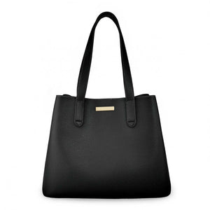 Katie Loxton Black  Riley Shoulder Bag | More Than Just A Gift