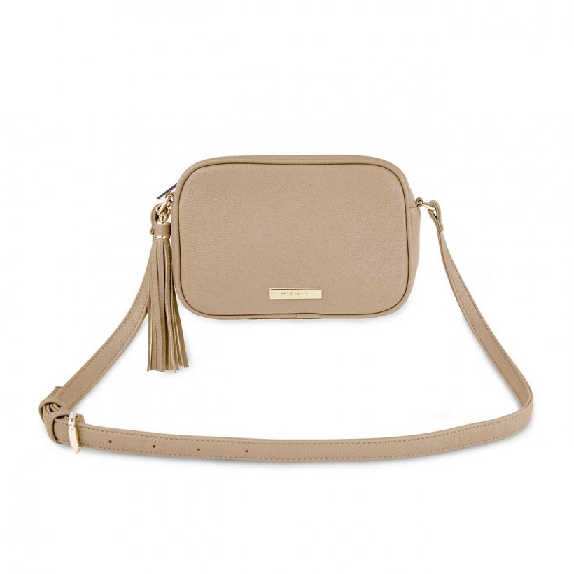 Katie Loxton Taupe  Sophia Tassel Crossbody Bag | More Than Just A Gift