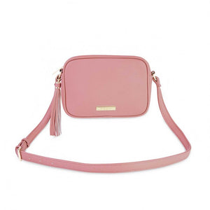 Katie Loxton Pink  Sophia Tassel Crossbody Bag | More Than Just A Gift