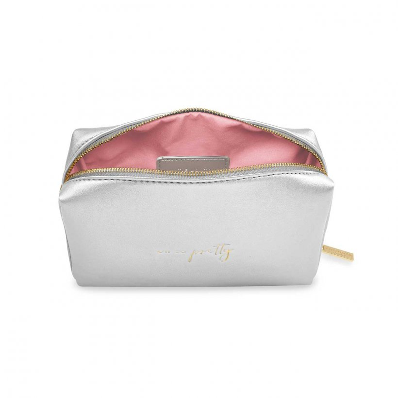 Katie Loxton Oh So Pretty Silver Colour Pop Make Up Bag