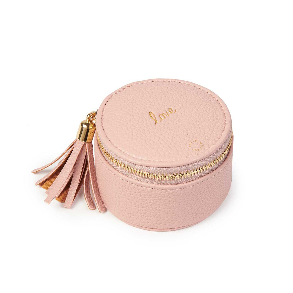 Katie Loxton Love Round Jewellery Box- Pink