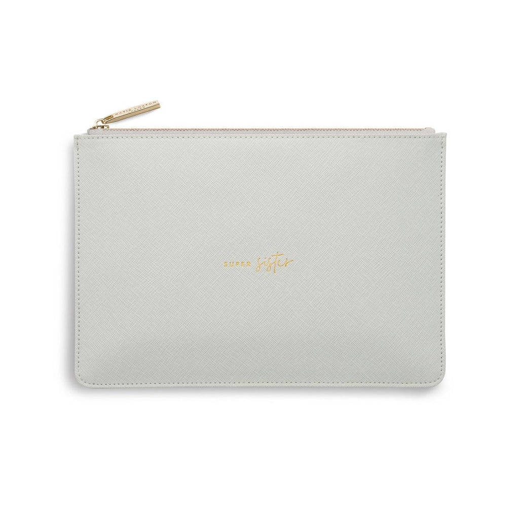 Katie Loxton Super Sister Perfect Pouch – pale grey