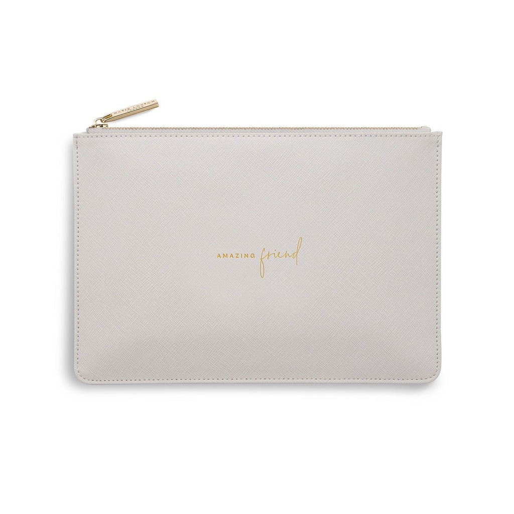 Katie Loxton Amazing Friend Perfect Pouch - pale grey