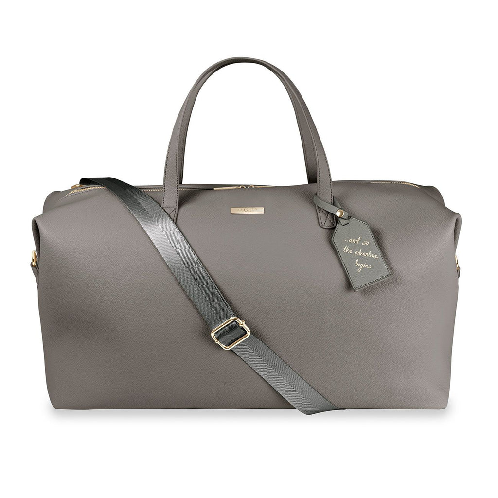 Katie Loxton Charcoal Adventure Begins Weekend Holdall Bag | More Than Just A Gift