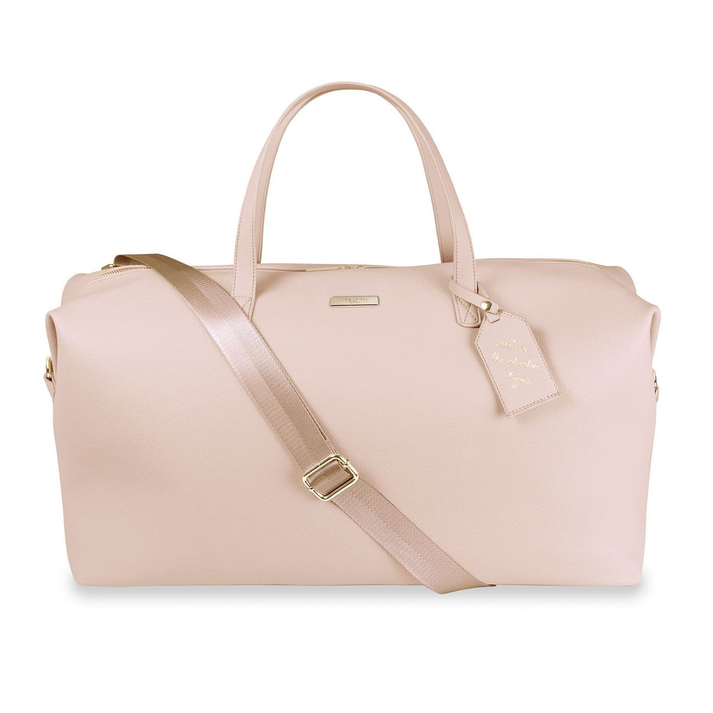 Katie Loxton Pale Pink Adventure Begins Weekend Holdall Bag | More Than Just A Gift