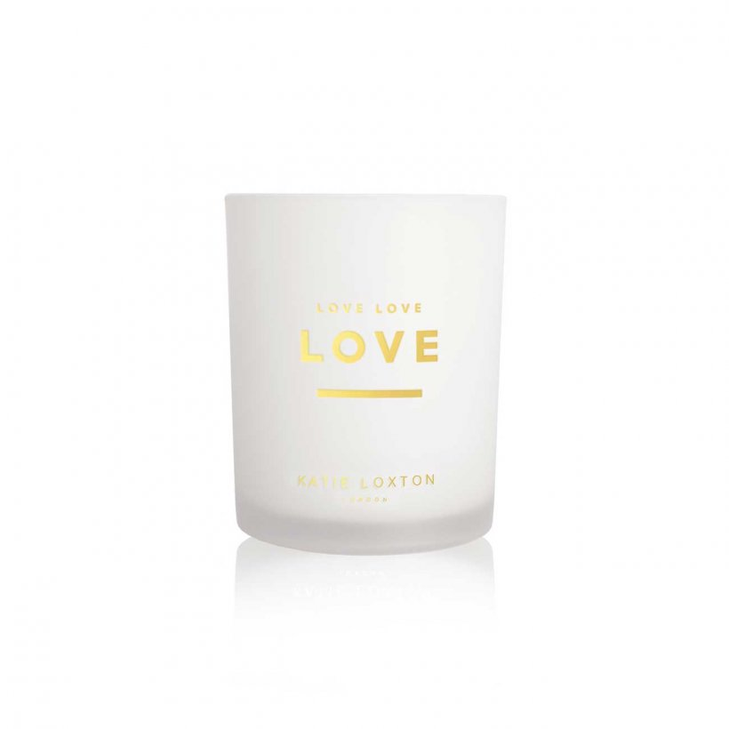 Katie Loxton Love Love Love Sweet Papaya and Hibiscus Flower Sentiment Candle