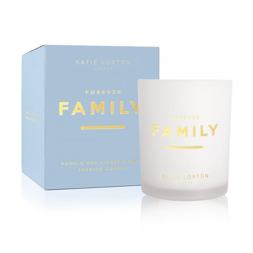 Katie Loxton Sentiment Candle Forever Family | Pomelo and Lychee Flower | More Than Just A Gift