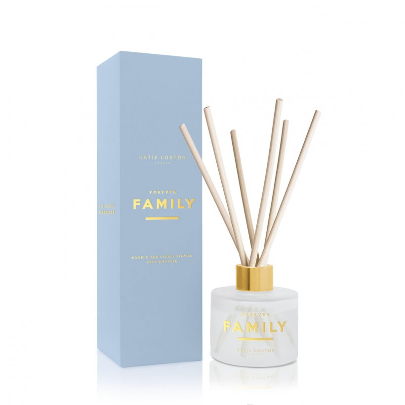 Katie Loxton Sentiment Reed Diffuser Forever Family | Sweet Pomelo and Lychee Flower | More Than Just A Gift