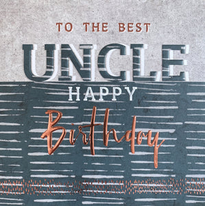 Manifold - Uncle Birthday Card
