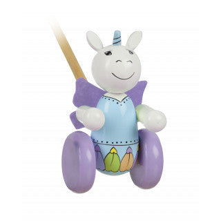Orange Tree Unicorn Boxed Push Along