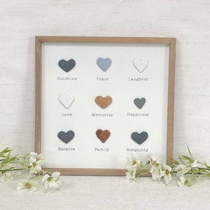 Simplicity Hearts Framed Plaque