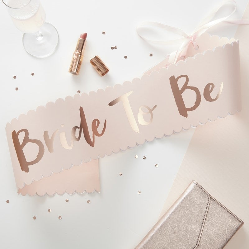 Team Bride Bride to be Sash | More Than Just at Gift | Narborough Hall