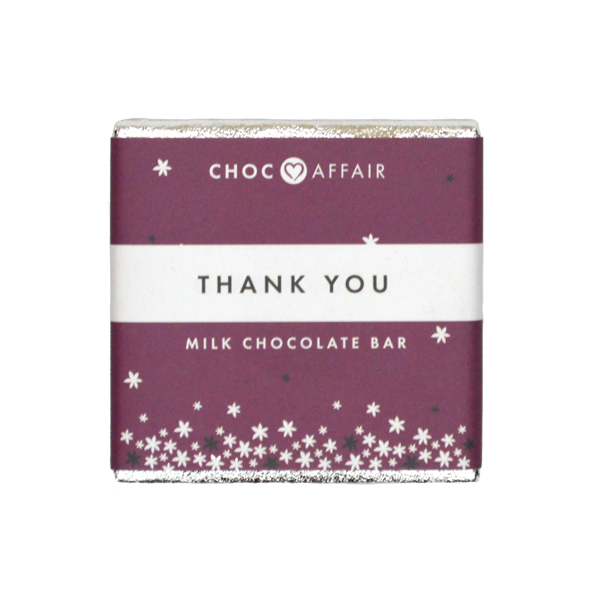 Choc Affair Thank You  Chocolate Bar 30g