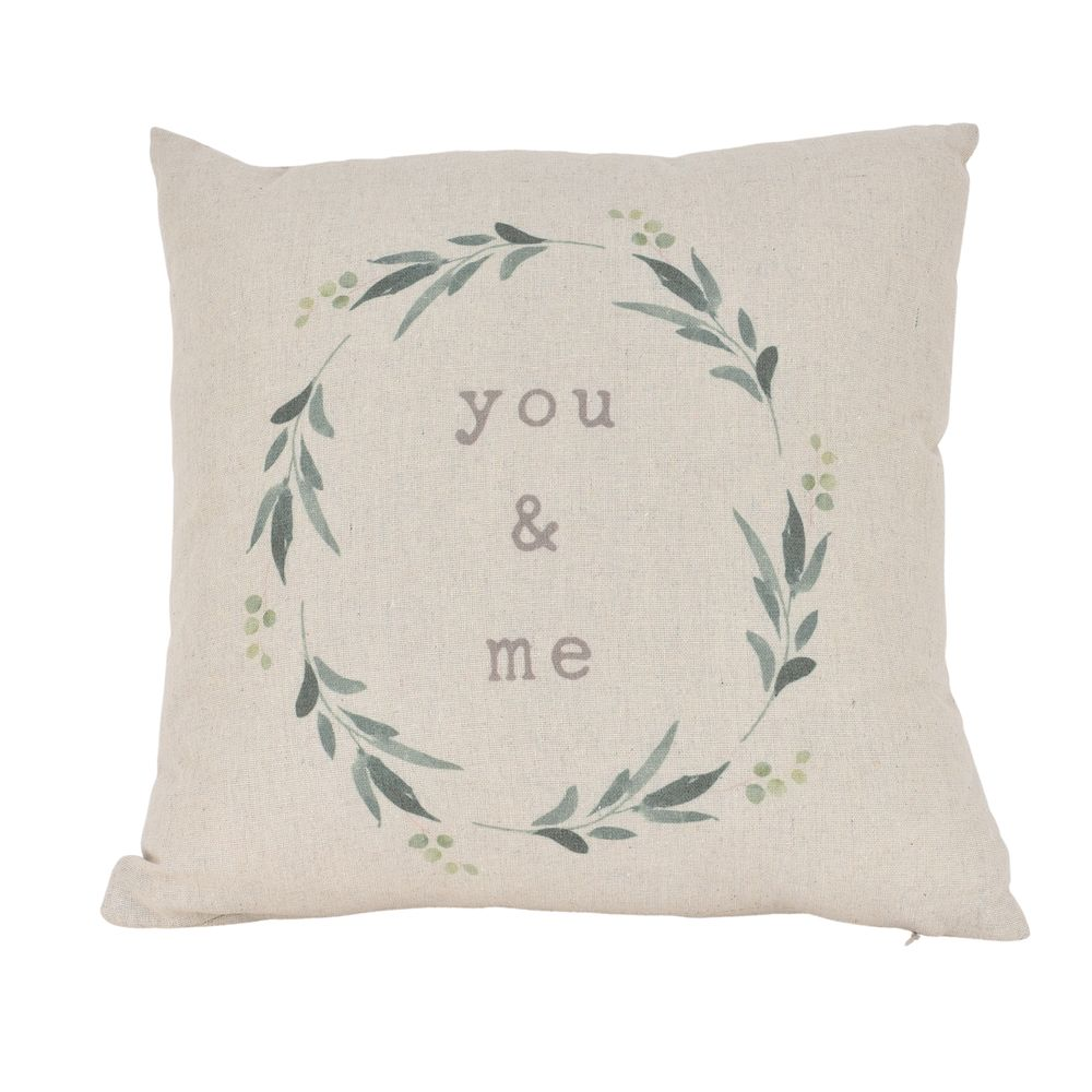 Love Story Grey Canvas You & Me Cushion