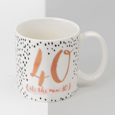 Luxe 40th Birthday Mug