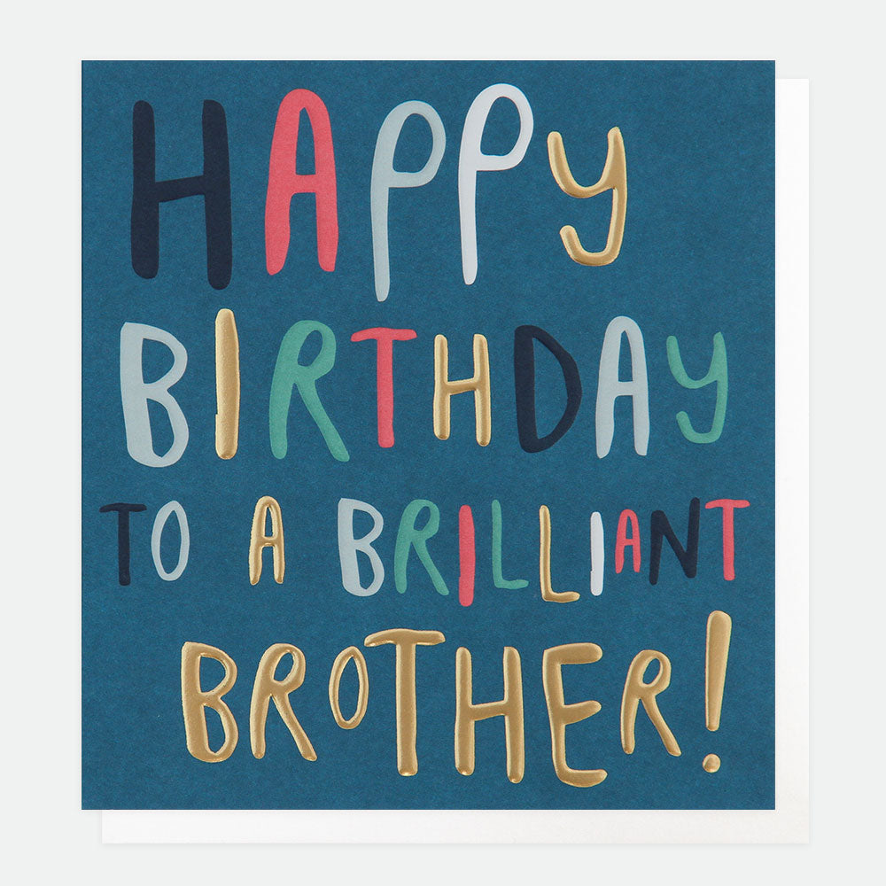 CGP Happy Birthday Brilliant Brother Card
