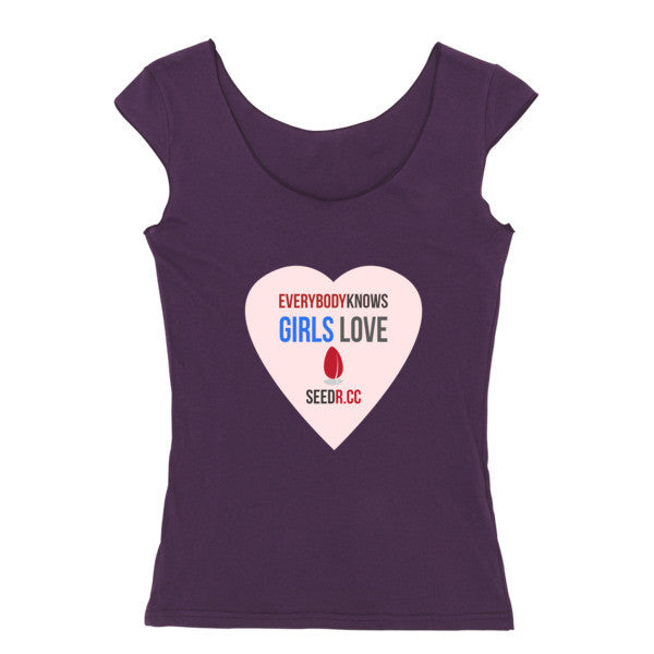 Girls Love Seedr reversible cap sleeve t-shirt (women's)