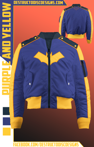 Purple and Yellow Bomber Jacket! [Limited]