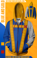 Blue and Gold Hoodie [Limited] [OLD SIZING]