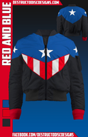 Red and Blue Bomber Jacket! [LIMITED]