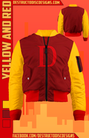 Yellow and Red Bomber Jacket! [LIMITED]