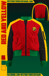 Red and Yellow Bomber Jacket!