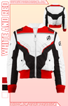 White and Red Bomber Jacket!