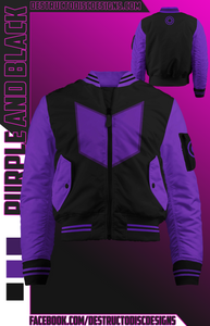 Purple and Black Bomber Jacket! [Preorder]