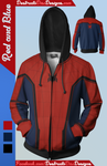 Red and Blue Hoodie