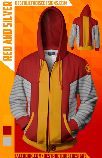 Red and Silver Hoodie [LIMITED] [OLD SIZING]