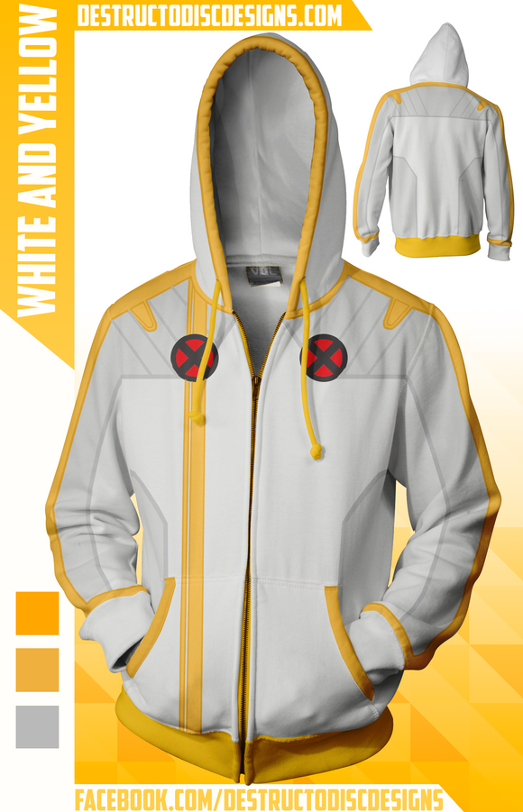 White and Yellow Hoodie [Preorder] [OLD SIZING]