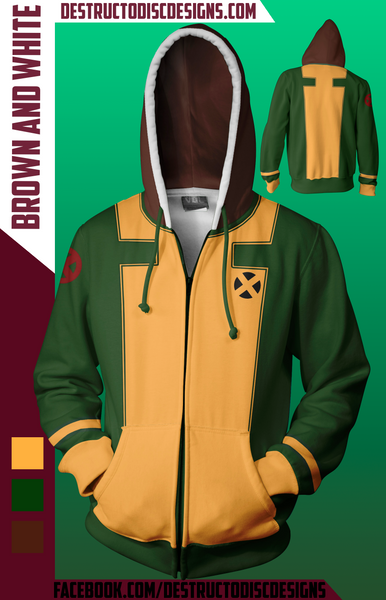 Brown and White Hoodie [Limited] [OLD SIZING]