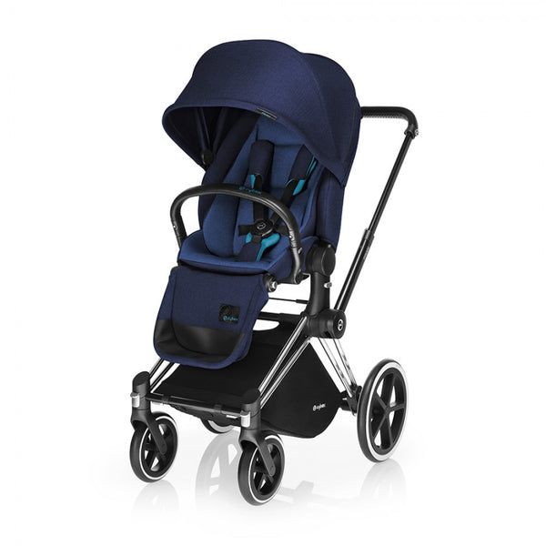Cybex Priam Stroller with Lux Seat - Blue - Seat and Frame Complete