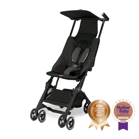 Pockit Stroller – Satin Black