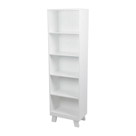 Casa Slim Book Case – White-Nursery Furniture-Bebe Care-Baby Undercover