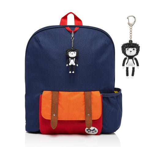 Kid's Backpack Navy Colour Block (Age 3plus)-Bag-Babymel-Baby Undercover