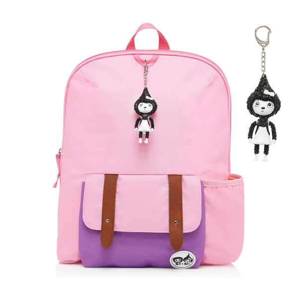 Kid's Backpack Pink Colour Block (Age 3plus)-Bag-Babymel-Baby Undercover