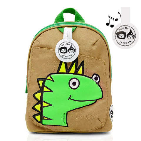 Mini Backpack and Safety Harness / Reins Dylon Dino Face (Age 1-4 )-Bag-Babymel-Baby Undercover