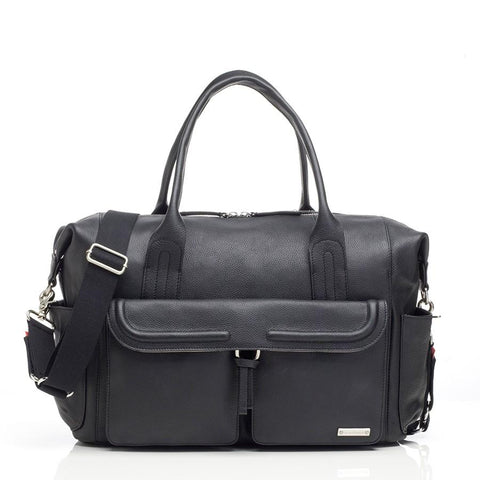 Storksak Charlotte Black Leather-Bag-Storksak-Baby Undercover