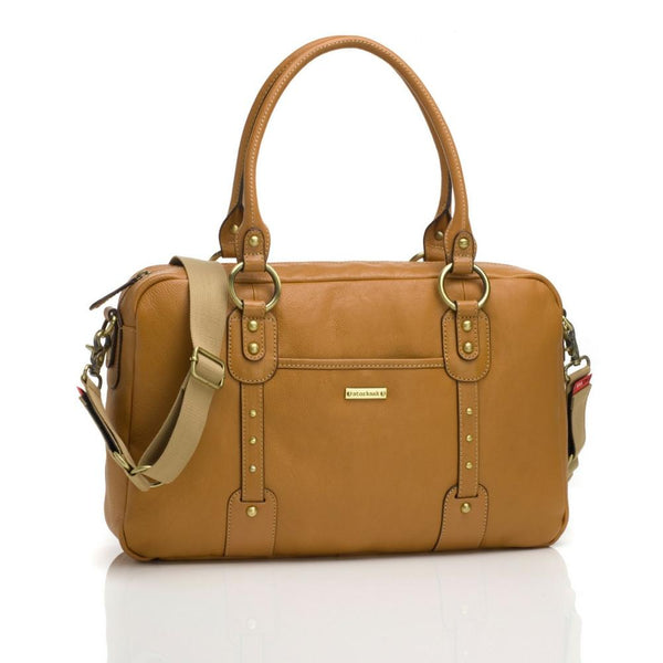 Storksak Elizabeth Leather Tan-BAG-StorkSak-Baby Undercover