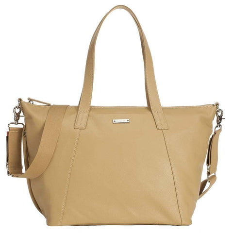Storksak Noa Leather Light Tan-Bag-Storksak-Baby Undercover