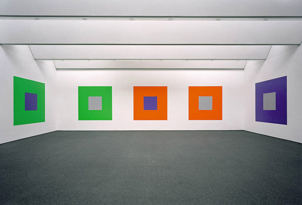 Sol LeWitt: Wall Drawings 1176, Seven Basic Colors and All Their Combinations in a Square within a Square For Josef Albers