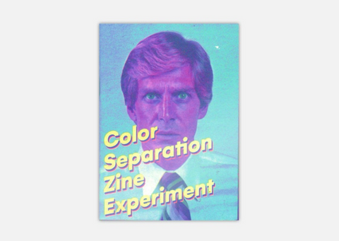 Color separation zine experiment