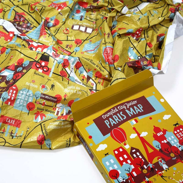 Crumpled City Junior: Paris. Soft illustrated maps for urban jungles