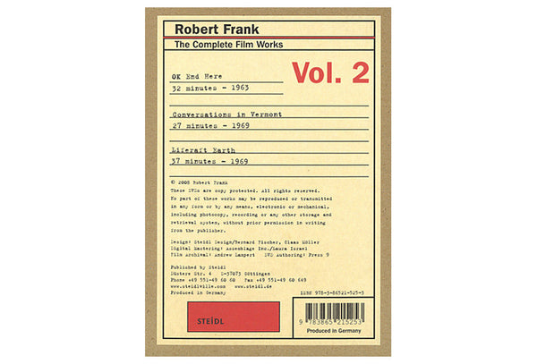 Robert Frank. The Complete Film Works Vol. 2