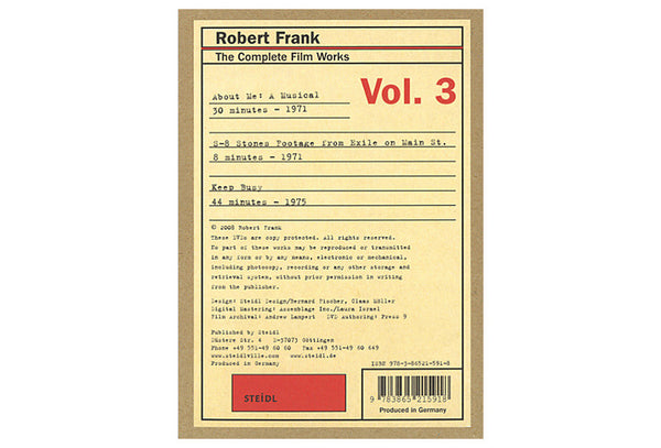 Robert Frank. The Complete Film Works Vol. 3