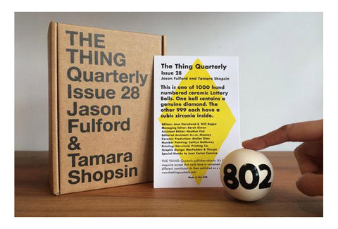 The Thing Quarterly. Issue 28 - Jason Fulford & Tamara Shopsin
